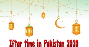 Iftar time in Pakistan 2020