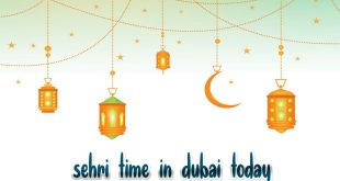 sehri time in dubai today