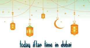 today iftar time in dubai